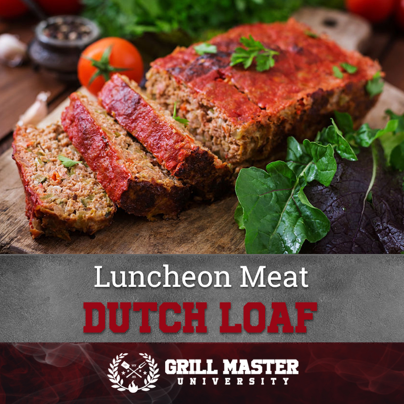 Luncheon meat Dutch meatloaf
