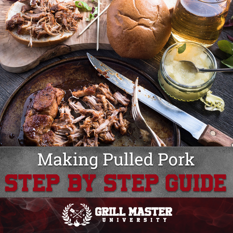 Step by step guide for making pulled pork