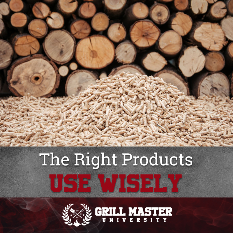 The right wood pellets