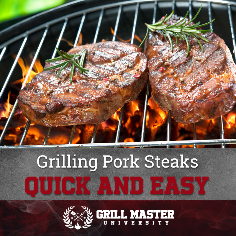 Giling pork steaks quick and easy