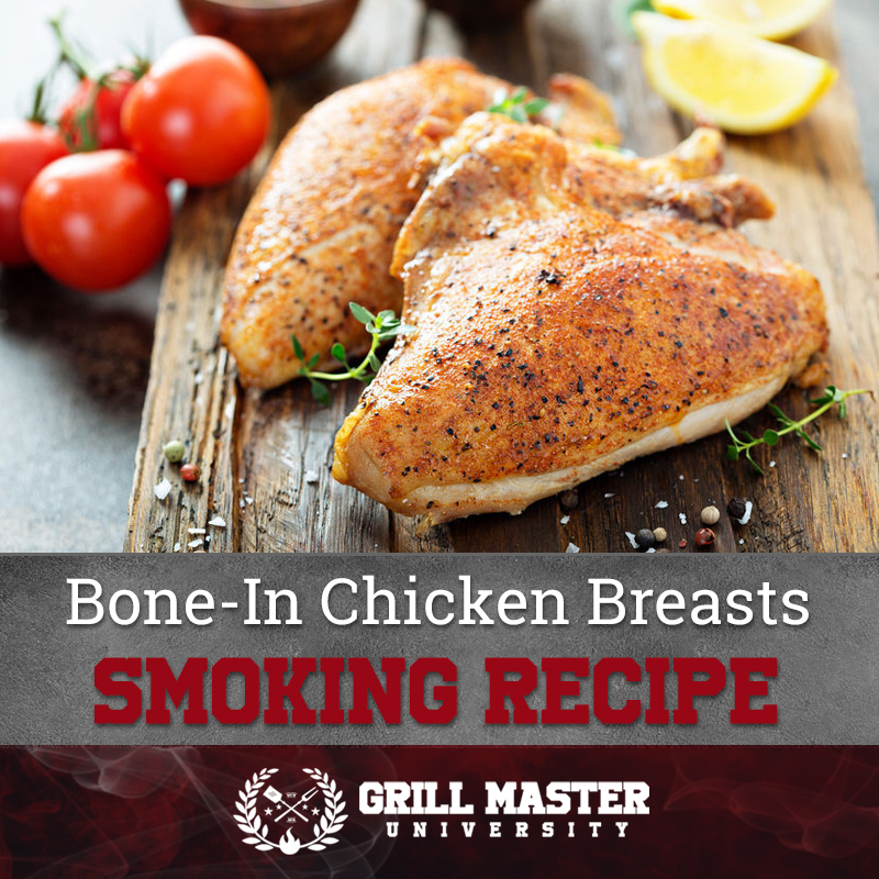 Smoked bone-in chicken breasts