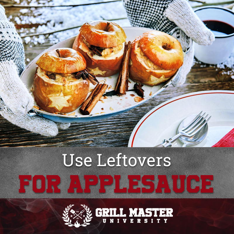 Use leftovers for applesauce