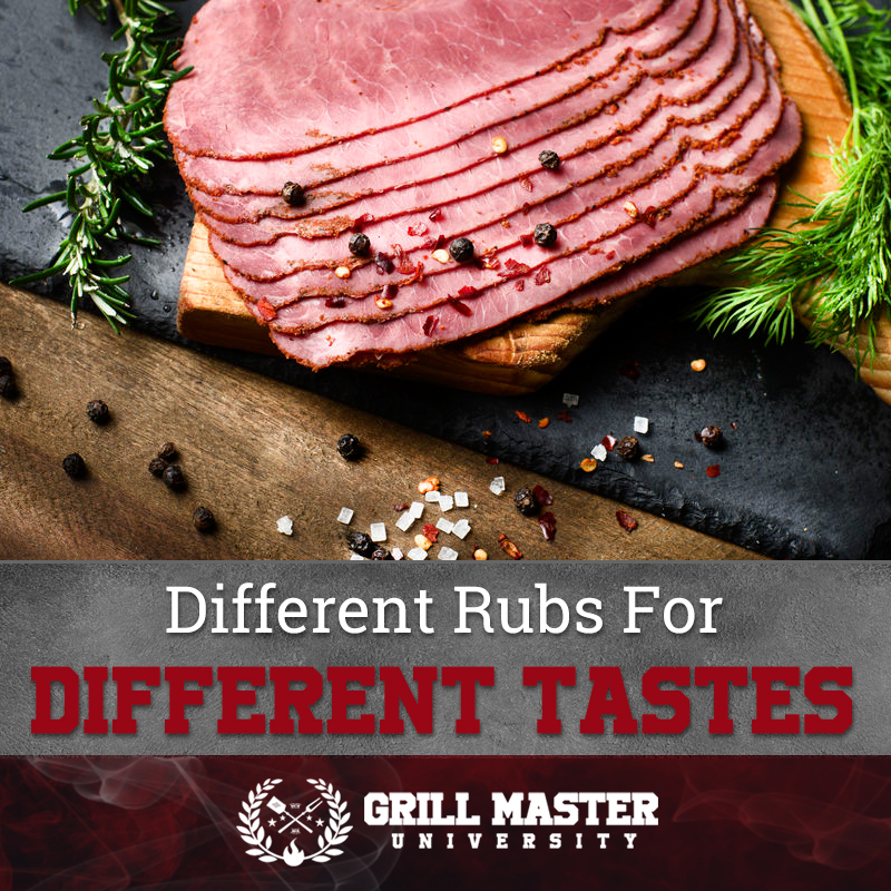 Different pastrami rubs