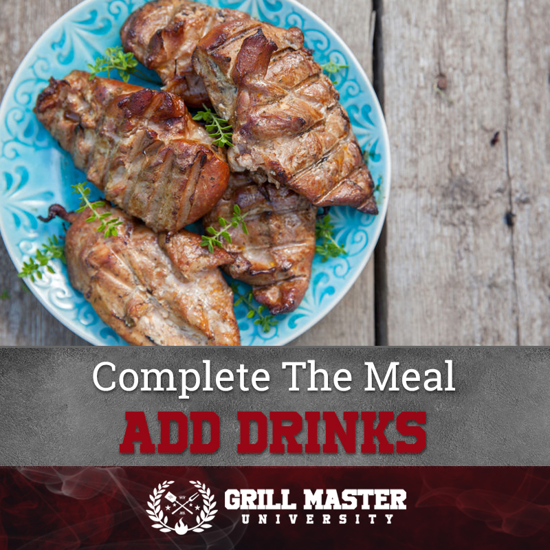 Complete the chicken meal and add drinks