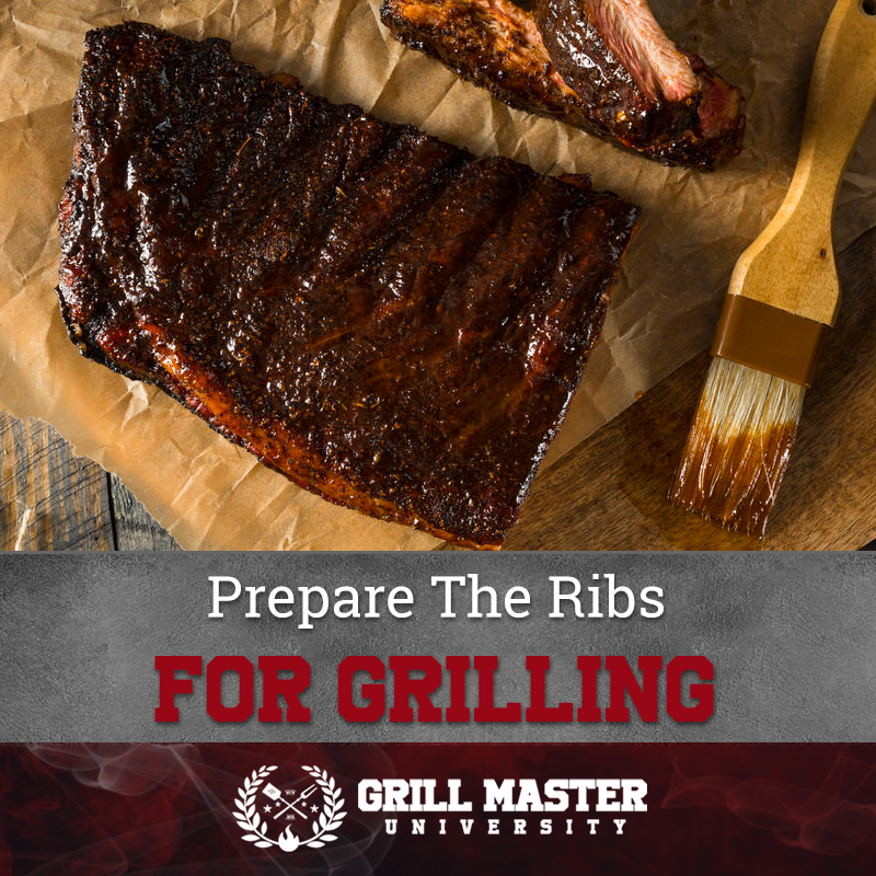 Prepare the ribs for grilling