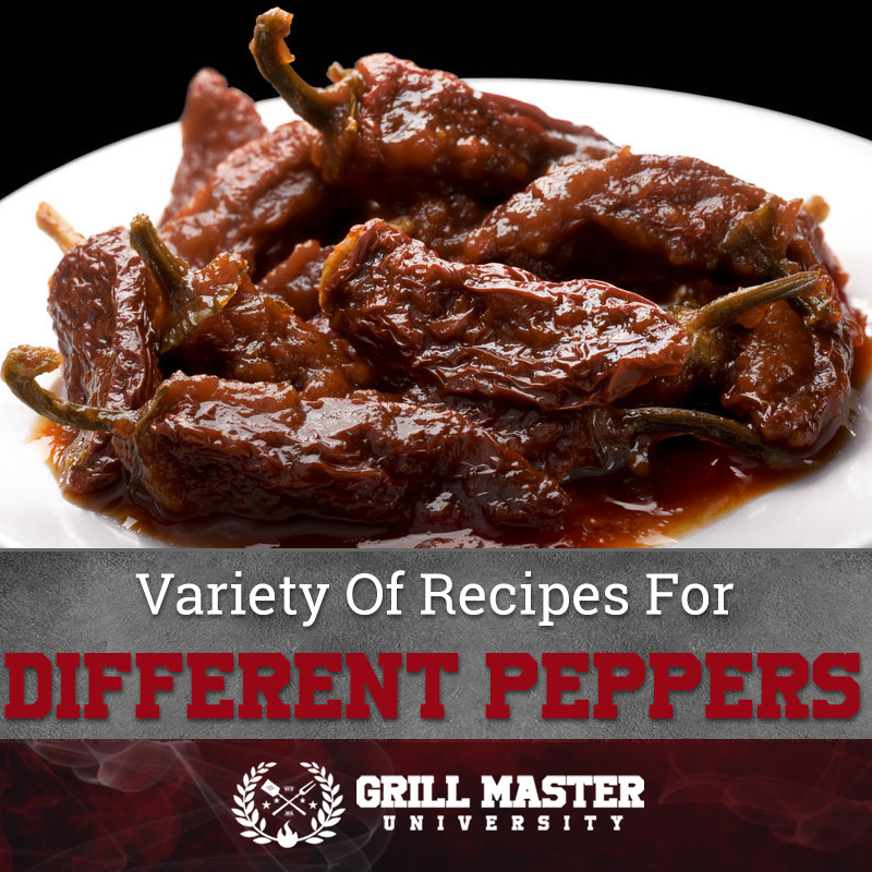Variety of smoked peppers recipes